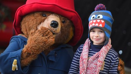 Paddington Bear will be in Bury St Edmunds to meet late night shoppers. Pictured with Paddington is