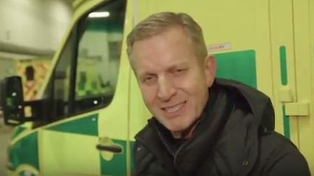 Jeremy Kyle backs East of England Ambulance Service's (EEAST) Don't Choose to Abuse campaign. Pictur