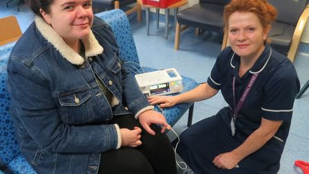 Renee Lewis-Driver with Liz Thomas, lead nurse for the transition team. Picture: COLCHESTER GENERAL