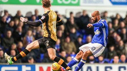 David McGoldrick, right, returns to the Ipswich squad today after injury.