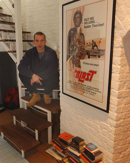 The way we were. Boris Starling in his rented Martello tower in Suffolk in March, 2004 - with one of