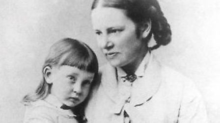Elizabeth Garrett Anderson and daughter Louisa in 1876, from Jenifer Glynn's excellent book The Pion