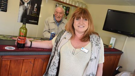 Chilton Meadows care home staff open pub in memory of former colleague. Pictured is experience a man