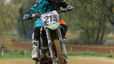 Ollie Ward on his motorcross bike which was stolen from his garage in Bury St Edmunds