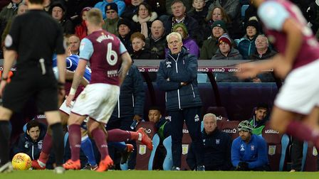 Mick McCarthy watching the action from the touchline at Villa Park Picture Pagepix