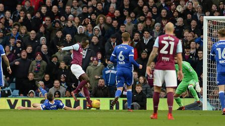 Albert Adomah skips over Cole Skuse's lunging attempt at a tackle on his way to opening the scoring