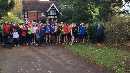 Runners line up for the start of last Saturday's Bedford Parkrun. Picture: CARL MARSTON