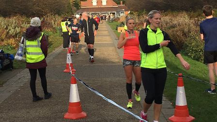 Female finishers at last Saturday's Bedford Parkrun, staged in cold but sunny conditions. Picture: C