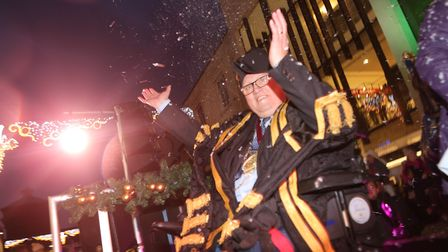 Mayor Gerard Oxford at the Colchester Christmas lights switch-on. Picture: SEANA HUGHES