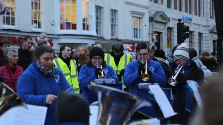Performers during the day at the Colchester 2017 Christmas lights switch-on. Picture: SEANA HUGHES