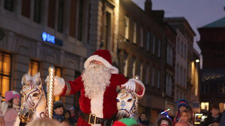 Colchester Christmas lights switch-on with Santa. Picture: SEANA HUGHES