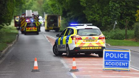 File image of a crash in Suffolk. Picture: ARCHANT