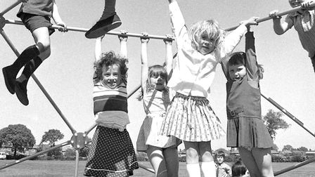 Playtime at Sidegate Lane Primary School, Ipswich, in May 1977. Picture: JERRY TURNER