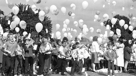 Did you take part in the balloon race from Sidegate Lane School, Ipswich, in September 1989. Pictur