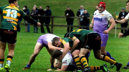 Action from Bury St Edmunds' last home match, which ended in a 37-19 victory over Clifton. Bury ente