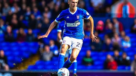 Flynn Downes has not been in the Ipswich Town matchday squad for the last three games. Photo: Steve