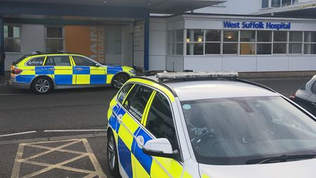Police were called to the collision at West Suffolk Hospital. Picture: ARCHANT