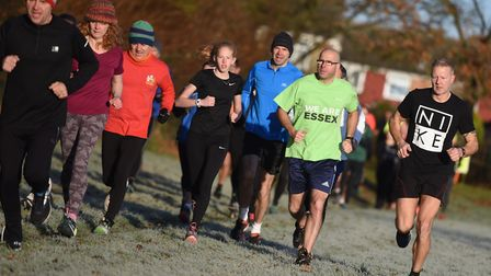 Hats were in order at Saturday's Great Cornard Parkrun. Picture: GREGG BROWN
