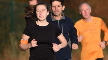 Action from Saturday's 198th Great Cornard Parkrun. Picture: GREGG BROWN