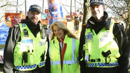 The packed Bury St Edmunds annual Christmas Fayre at the weekend. Event organiser Sharon Fairweather