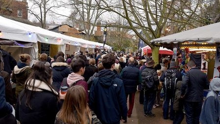 Stalls in the Abbey Gardens attracted huge numbers of visitors. Picture: ANDY ABBOTT