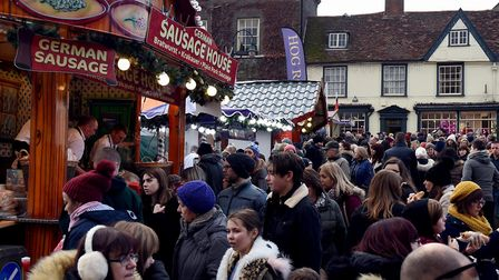 The packed Bury St Edmunds annual Christmas Fayre at the weekend. Picture: SUZANNE ABBOTT