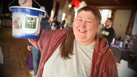 Organiser Mary Taylor at RSPCA Christmas fair in Holbrook. Picture: GREGG BROWN