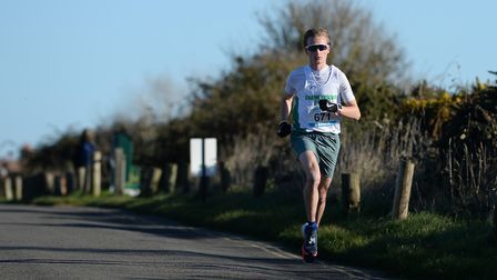 Framlingham Flyers' Andrew Rooke on his way to a new event record and well ahead of the rest of the