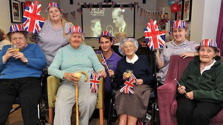 Davers Court residents Maureen, Violet, Margaret and Pearl with team members Amy Hammond, Hayden Rev