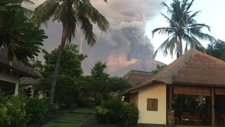 Mount Agung in Bali. Picture: WINDY MILLER