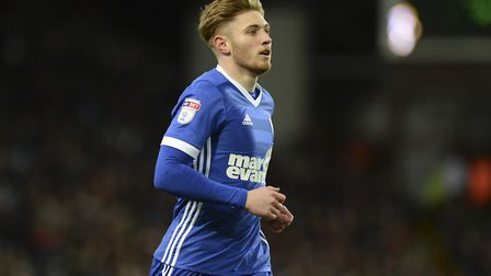 Teddy Bishop came on as a 76th minute substitute at Aston Villa on Saturday. Photo: Pagepix