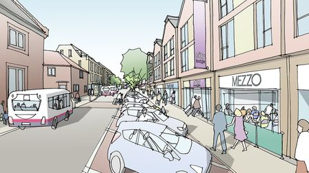An artist's impression of a redeveloped St Andrews Street North. Picture: DAVID LOCK ASSOC