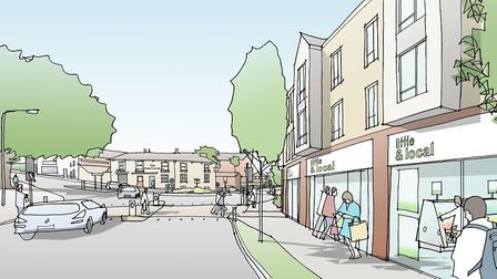 An artist's impression of a redeveloped Tayfen Road junction. Picture: DAVID LOCK ASSOC