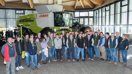 Easton and Otley College students at the CLAAS factory in Harsewinkel. Picture: FOTO PARADIES BERNHA