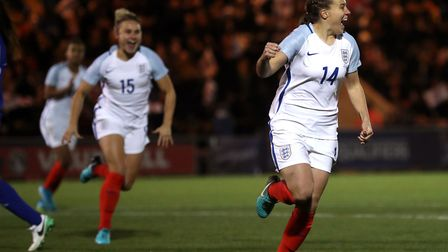 England's Fran Kirby celebrates her goal. Picture: PA SPORT