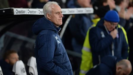 Mick McCarthy before kick-off at Derby County Picture Pagepix
