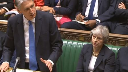 Chancellor Philip Hammond delivers his Budget in the House of Commons. Picture: PA Wire