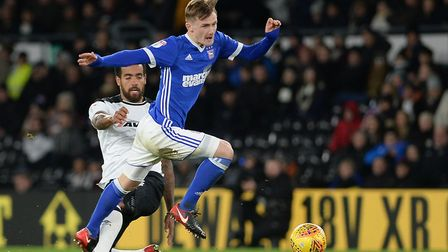Callum Connolly proved the match winner for Ipswich at Derby. Picture: PAGEPIX LTD