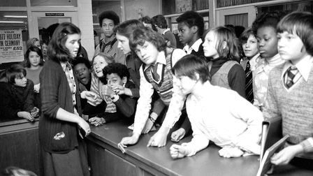 Are you one of the hungry faces at the Thurleston School, Ipswich, Tuck Shop counter in 1977? Pictur