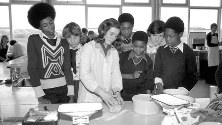 Lesson in kitchen skills at Thurleston School, Ipswich, in September 1977. Picture: JERRY TURNER/ARC