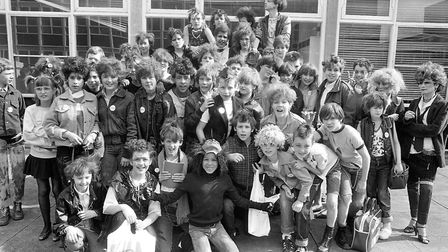 Punk fashion was a popular choice at Thurleston Schools Civies Day in 1983. Are you in the pictur