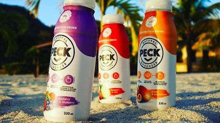 Matthew Havers' PECK health drinks, made from eggs. Picture: ALISTAIR GRANT/BOKEH PHOTOGRAPHIC