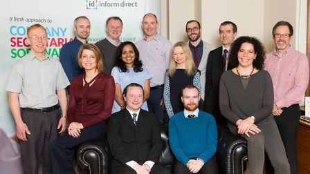 Members of the team at Ipswich-based Inform Direct which has just secured its 75,000th customer. Pi