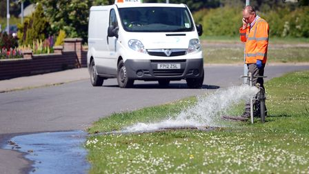 Water companies are responsible for fixing leaks within the public mains network but businesses are