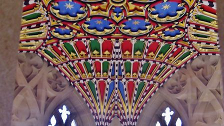Patterns on the ceiling of St Edmundsbury Cathedral. Picture: PETER BASH