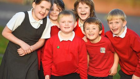 Finalists in St Gregory's Primary School's joke competition. Picture: GREGG BROWN