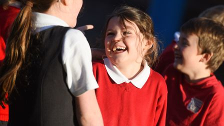 Joke time at St Gregory's Primary School. Picture: GREGG BROWN