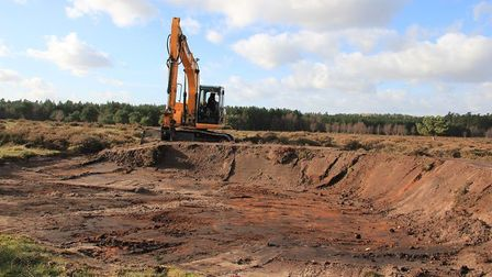 Excavations at Brandon Heath during the Ground Disturbance project. Picture: ARCHANT