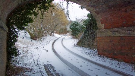 Snow and ice could arrive on Suffolk's roads overnight. Picture: PETER CUTTS
