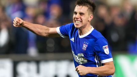 A fist pumping Jonas Knudsen after the 4-2 win over Nottingham Forest. Picture: STEVE WALLER
